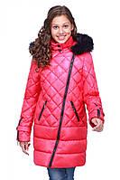 Детское яркое пальто на синтепухе, фото 1