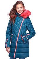 Стеганное детское пальто на зиму