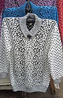 Модный женский свитер большого размера в расцветках