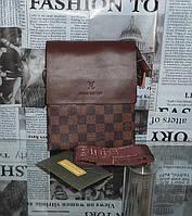 Сумка мужская  Louis Vuitton кожа, Италия