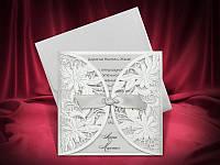 Красивые свадебные пригласительные серебристого цвета, весільні запрошення