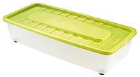 Ящик пластиковый под кровать на колесиках 35л, 78*37*18 см, Heidrun 1561