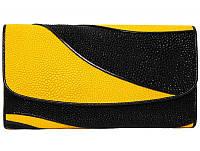 Кошелёк из кожи ската ST 52 DC Black/Yellow