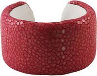 Браслет из шлифованной кожи ската STBRAS4099-SA Reddish Pink
