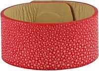 Браслет из шлифованной кожи ската STBRAS06-30SA Fire Red