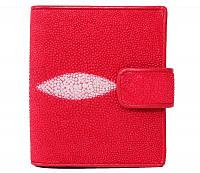 Визитница/портмоне из кожи ската STCH 08 Fire red