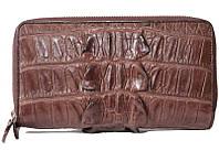 Сумка/кошелёк из кожи крокодила Кожа хвостовой части ZAM 15 T Brown