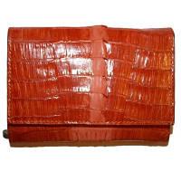 Кошелёк из кожи крокодила PMT 207 Orange