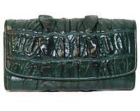 Кошелёк из кожи крокодила PCM 03 BT Green