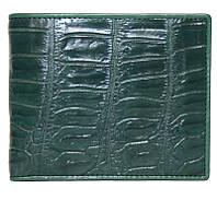 Портмоне из кожи крокодила ALM 03 B Green