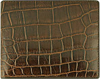 Эксклюзивное портмоне из кожи крокодила ALM 03 EX Brown