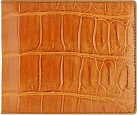 Эксклюзивное портмоне из кожи крокодила ALM 03 EX Golden Tan