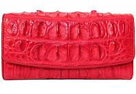 Кошелёк из кожи крокодила PCM 03 T Fire red