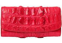 Кошелёк из кожи крокодила PCM 03 BT Fire red