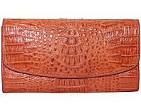 Кошелёк из кожи крокодила (цельная шкура)  PCM 03 H Tan