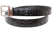 Ремень из кожи крокодила ALB 1,5 DR Black