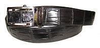 Ремень из кожи крокодила (живот) 105 ALB Belly Black
