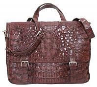 Портфель/сумка из кожи крокодила DCM 52 Brown