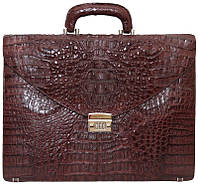 Портфель из кожи крокодила DCM 48 Brown