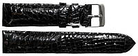 Ремешок для часов из кожи крокодила  ALWS 01 Black