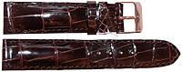 Ремешок для часов из кожи крокодила  ALWS 01 Brown