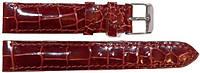 Ремешок для часов из кожи крокодила  ALWS 01 Tan