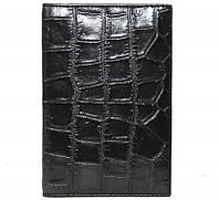 Обложка для документов из кожи крокодила ALDH 20 B Black