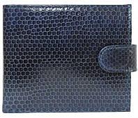 Портмоне из кожи морской змеи.EXCLUSIVE SN 96 Dark Blue