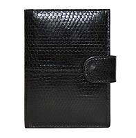 Портмоне для денег и документов из кожи змеи SN 9001 Black