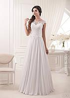 Изысканное свадебное плаИзысканное свадебное платье силуэта ампир с закрытой спинкой-жемчуженой