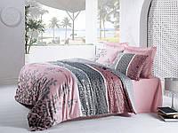 Набор постельного белья сатин печатный 200х220 Cotton box MAHIDEVRAN PEMBE