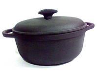 Посуда чугунная: чугунный казан 2л с крышкой «Ситон»