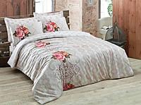 Набор постельного белья сатин печатный 200х220 Cotton box BAHAR TABA