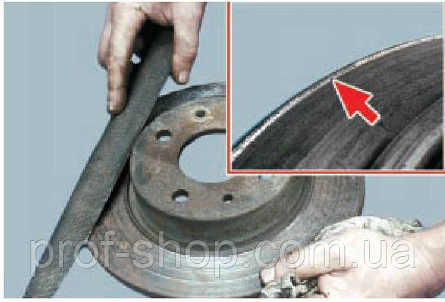 Как убрать буртик на тормозном диске своими руками
