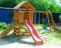 Игровая площадка для детей, качели, песочница, горка мульти БАШНЯ, дерево