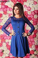 Женское платье гипюровый рукав 3 цвета , фото 1