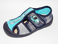 Текстильные тапочки для мальчика MB Польша (мокасины, тапки, текстильная обувь) скорость