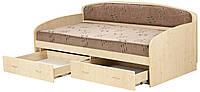 Кровать-диван «Вадим» с матрасом (выдвижные ящики)