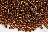 Бисер Preciosa Чехия №17110 1г, золото, коричневый темный,, блестящий