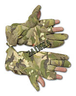 Перчатки из полар-флиса с откидной варежкой Multicam.