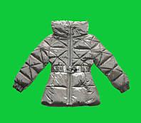 Пальто девочка бронза зимнее
