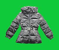 Пальто зимнее на девочку оптом серое