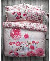 Полуторное постельное белье KARACA HOME  JUNE с розовыми маками