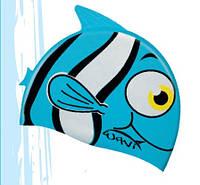 Детская шапочка для плавания Salvimar Wavi Fish Cap голубая