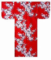 """Юката из Японии """"Цветение белой сакуры""""  (хлопок)"""