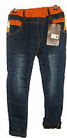 Мужские детские джинсы на флисе