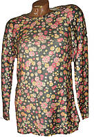 Женский свитер цветы