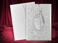 Эксклюзивные свадебные приглашения в серебристых тонах, оригинальные пригласительные на свадьбу