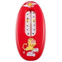 Термометр Nuby для воды, 0м+, красный со львом (4615-1)