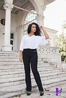 """Черные женские брюки большого размера """"Классика"""""""
